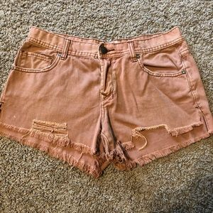 Free People Color Wash Shorts